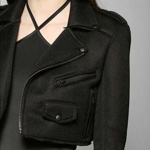 7aa777714cab ... UNIF mesh neoprene cropped moto jacket ...